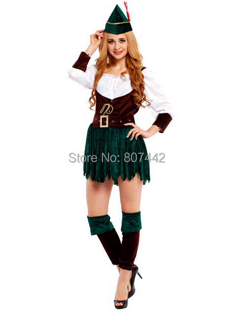 hallowmas cosplay costume female halloween costumes woman green wizard take tight dress up the festival