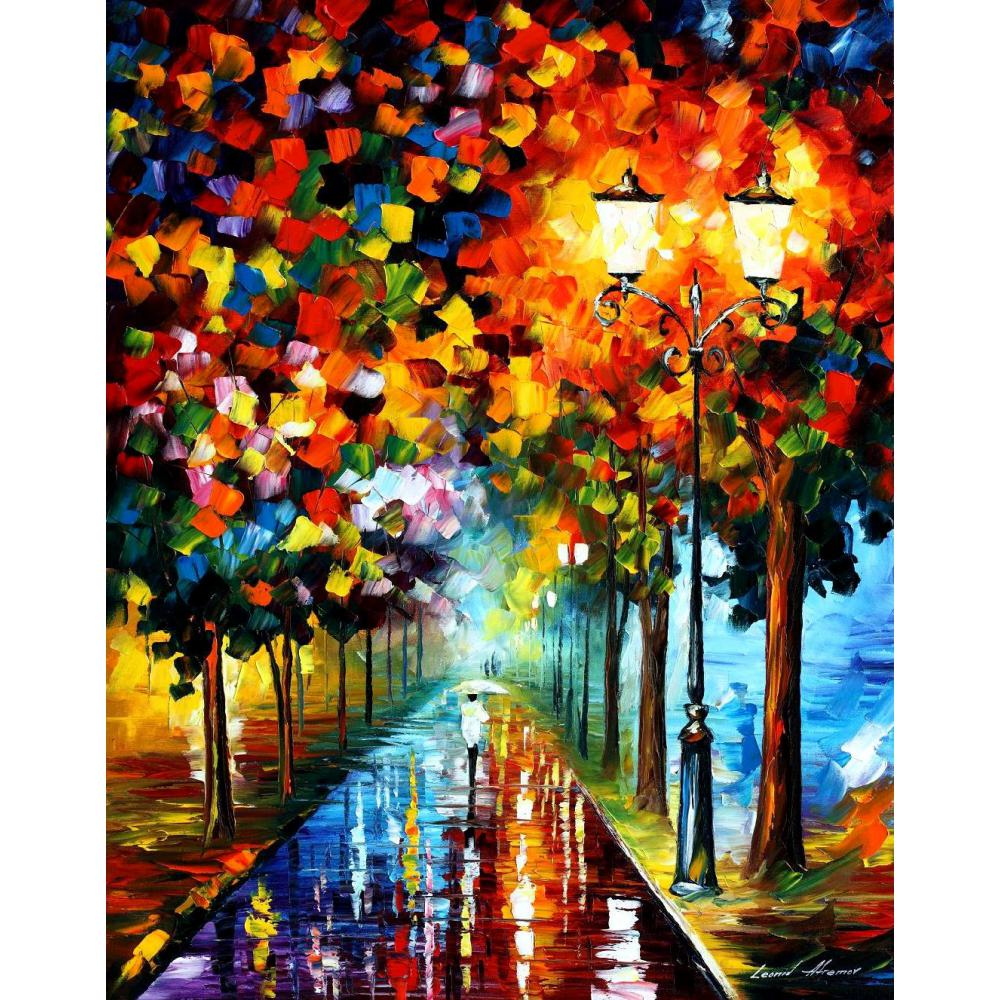 US $86 67 OFF Kontemporer Art Ledakan Warna Tangan Dicat Pisau Lukisan Pemandangan Minyak Pada Kanvas Kualitas Tinggi Contemporary