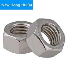 DIN934 Metric Thread Hex Nut Hexagon Nuts M1 M1.2 M1.6 M2 M3 M4 M5 M6 M8 M10 M12 M14 M16 Stainless Steel 304 metric thread din934 m2 m2 5 m3 m4 m5 m6 m8 m10 m12 black grade 8 8 carbon steel hex nut hexagon nut screw nut a2 brand new