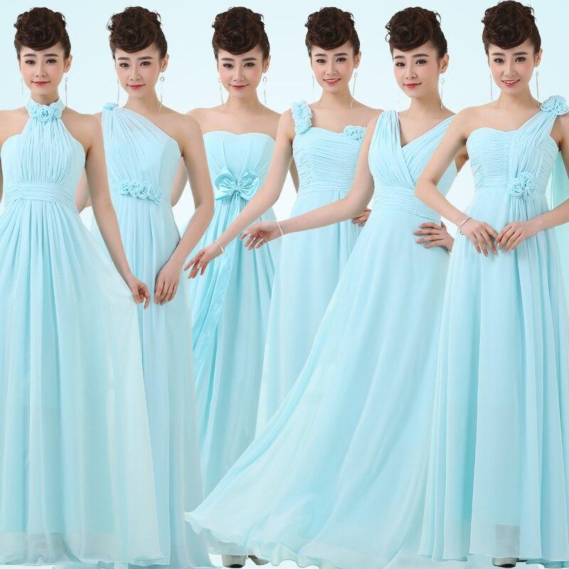 Kleider pastell blau