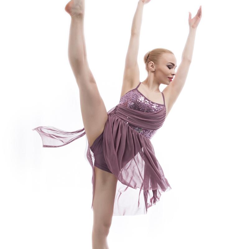 31ed1d9a8eb9 Hot Selling Adult Grey Sequin Bodice Leotard Dance Dress Women ...