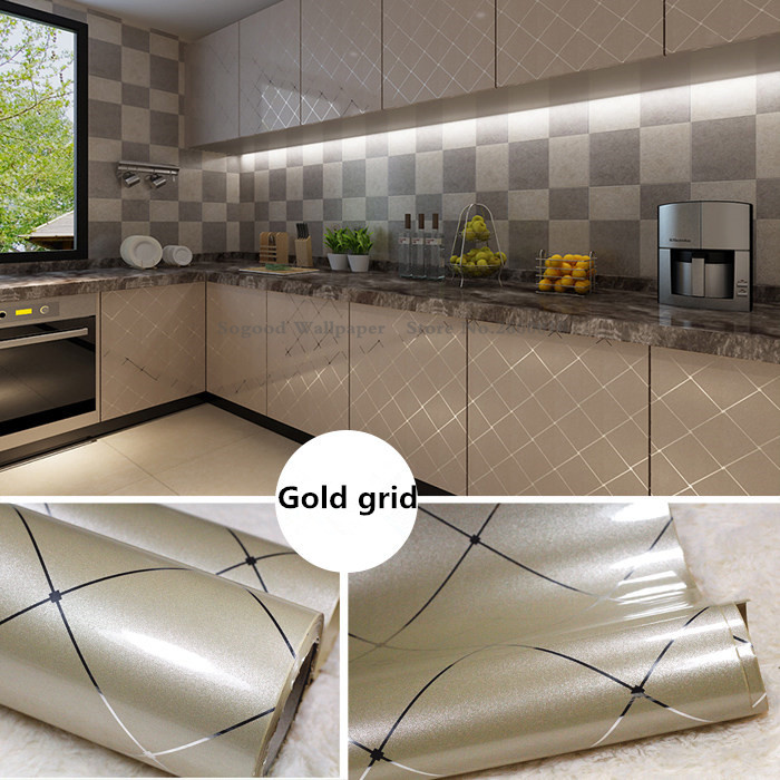 Kitchen Furniture Decoration Renovation Self Adhesive Wallpaper,Simple DIY Home Building Table Waterproof Wallpaper Stickers