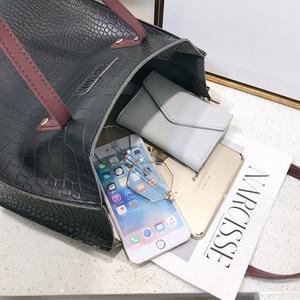 Image 5 - Fashion Crocodile Pattern Women Handbag Leather Ladies Hand Bags Luxury Handbags Women Bags Designer shoulder bag for women 2019