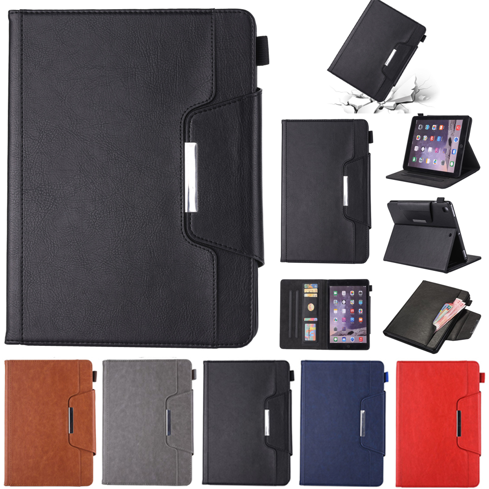 New Cover Case for iPad Air 1/2 Luxury Vintage Business Flip Card Holder Stand for iPad 5 iPad 6 Pro 9.7 Wake up Funda Capa Para