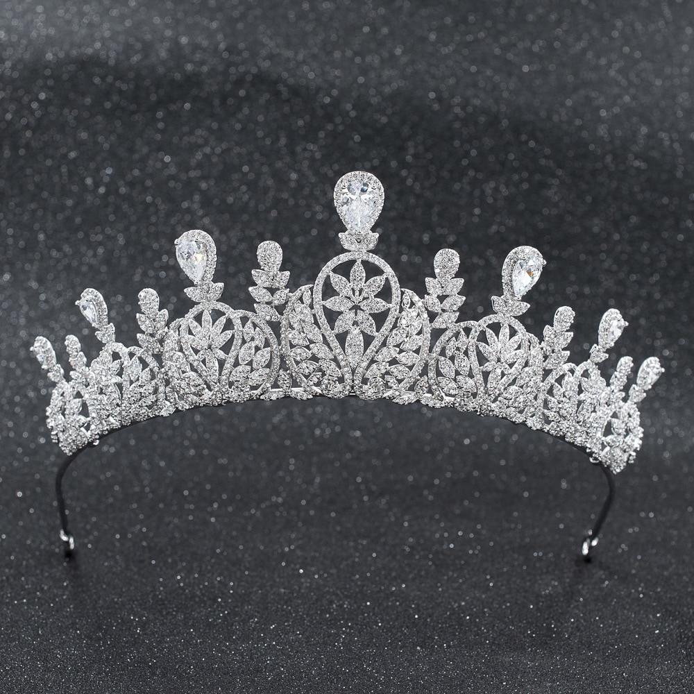 2019 New Crystals CZ Cubic Zirconia Wedding Bridal Royal Tiara Diadem Crown Women Prom Hair Jewelry Accessories CH100632019 New Crystals CZ Cubic Zirconia Wedding Bridal Royal Tiara Diadem Crown Women Prom Hair Jewelry Accessories CH10063