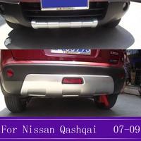 닛산 qashqai j10 abs 크롬 프론트 + 리어 범퍼 프로텍터 가드 스키드 플레이트 2007 2008 2009 2 pcs|크로뮴 스타일링|자동차 및 오토바이 -