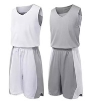 Cheap DIY Reversible Basketball Jersey Quick Dry Basketball Sportswear Running Sport Suits Wholesales