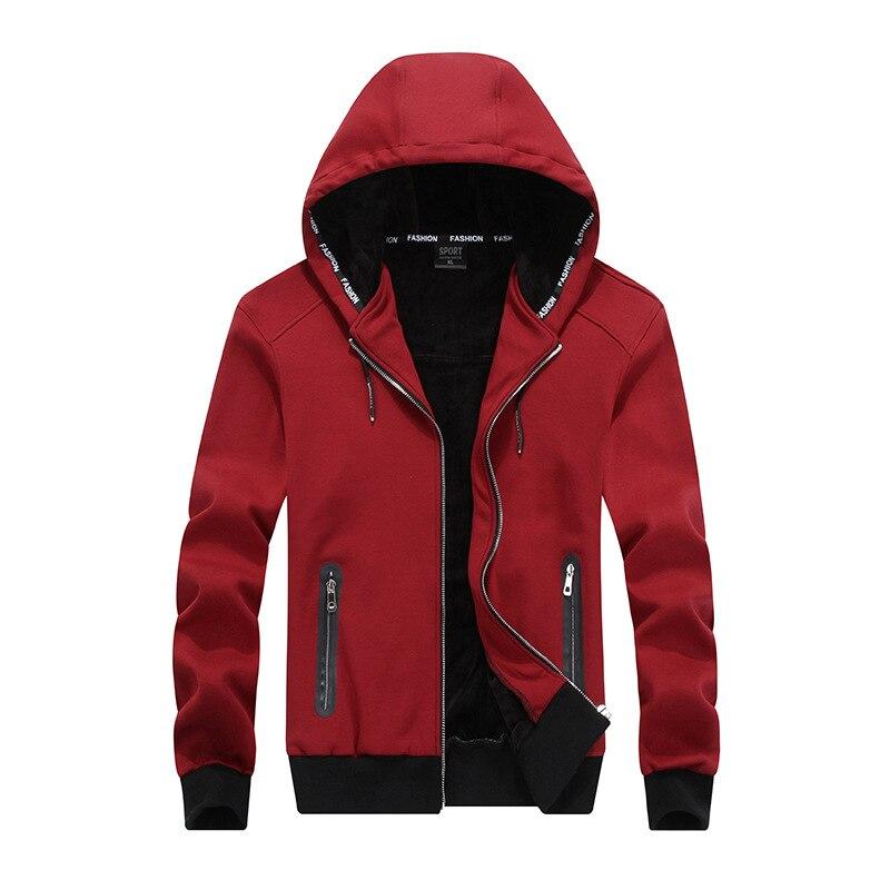 Хёрд 2018 Новый осень-зима Для мужчин спортивные куртка с капюшоном утолщение кашемир толстовки для Для мужчин костюм Костюмы