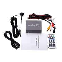 Super Mini Metal Design DVB Car DVD TV Box Receiver Easy Installation Monitor Analog TV Tuner Strong Signal Box with Antenna