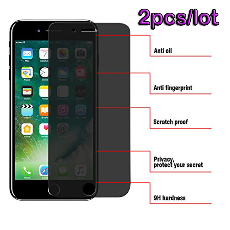 2 шт., антишпионское закаленное стекло для iPhone XS MAX XR, полное покрытие, защитная пленка для iPhone 11 Pro Max 7 8 plus 6