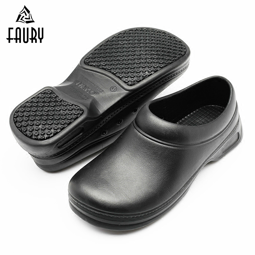 Chef Shoes Men Sandals Waterproof Oil Resistant Super Anti-skid Non Slipping Safety Clogs Kitchen Hotel Restaurant Work Shoes