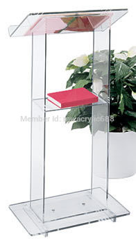 Free Shipping Beautiful Simplicity Cheap Acrylic Podium Pulpit Lectern Podium