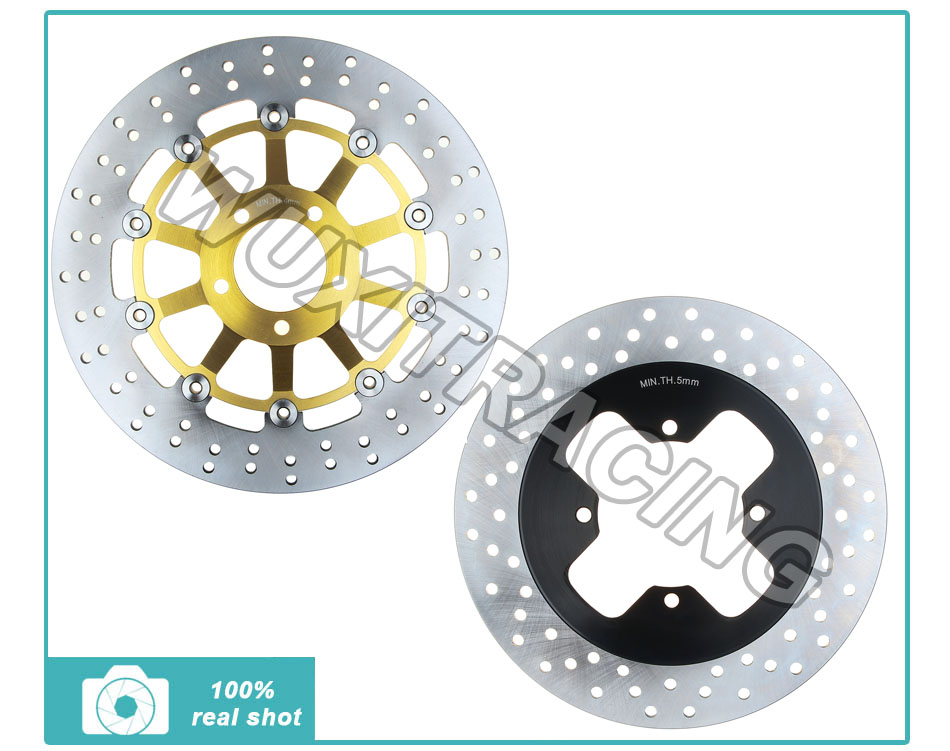 Full Set Round Front+Rear Brake Disc Rotor For SUZUKI GSF400 GSF 400 Bandit 91-93 1991 1992 1993