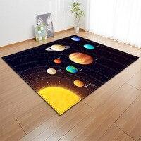 קריקטורה קוסמוס כוכב שטיח אסתטיקה סדרת תינוק שטיחים סלון גדול שטיח עיצוב הבית מחצלת שטיחים לילדים חדרים