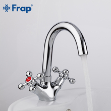 FRAP Basin Faucet Deck Mounted 6 Models Available Bathroom Sink Faucet Tap Mixer Cold and Hot Water Basin Faucet Cold Hot Water gold polished deck mounted bathroom sink faucet countertop hot and cold water mixer tap with cover plate