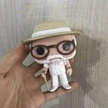 Original Funko pop de segunda mano películas: Jurassic Park-John Hammond vinilo figura de acción colección modelo suelto juguete caja de