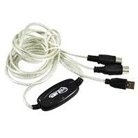 BÁN HÀNG 5 xUSB MIDI Cable Chuyển Đổi PC để Âm Nhạc Bàn Phím Cửa Sổ Win Vista XP, Mac OS