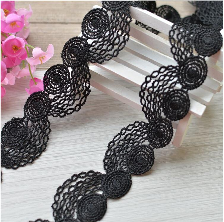 Arts,crafts & Sewing New Hot!5 Meters/lot Width3.5cm Novelty Diy Lace Fabric/white Water Soluble Lace /black Decoration Accessories Hair Accessories Cool In Summer And Warm In Winter Lace