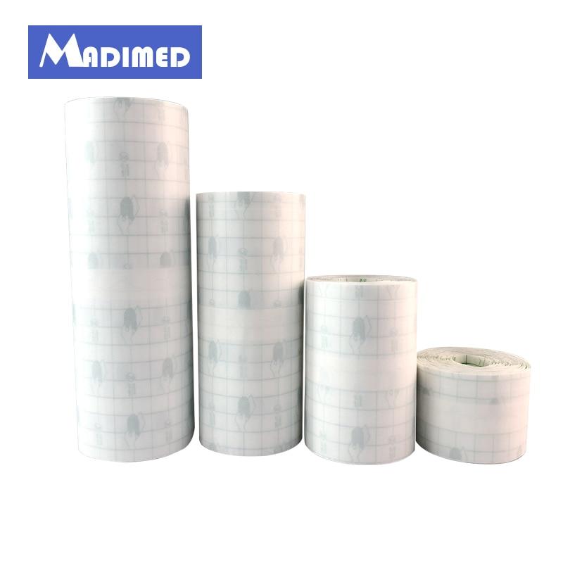 MADIMED 10/15/20 センチ × 10 メートル防水透明接着性創傷被覆材定着石膏 Fixomull ストレッチ PU フィルムロール固定テープ -
