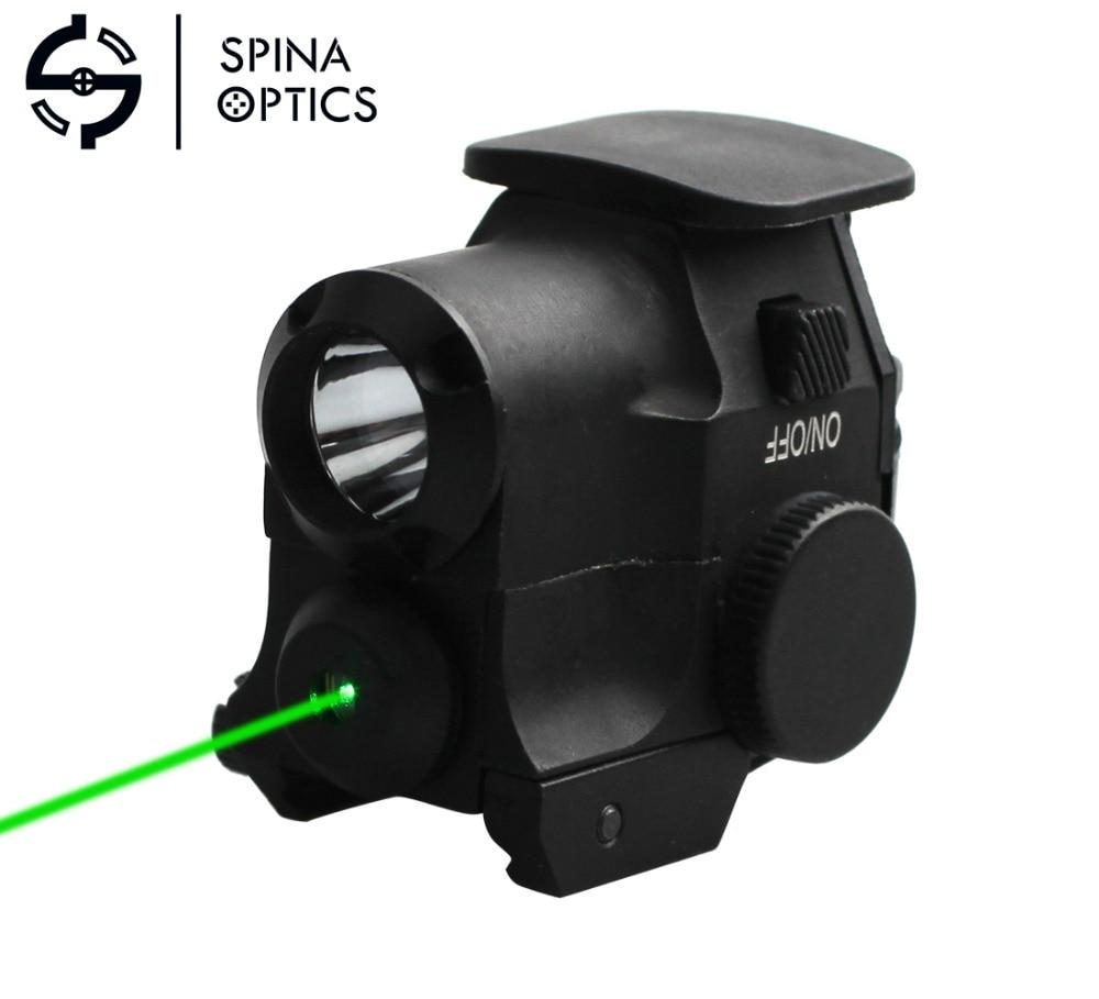 Green Dot Laser Flashlight Sight Scope 532nm Wavelength Tactical Hunting Led Flashlight Combo Fit For 21mm Weaver Picatinny Rail