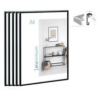 5pcs bundle pack classic super narrow aluminum A4 poster frame for wall hanging/metal photo frame certificate frame