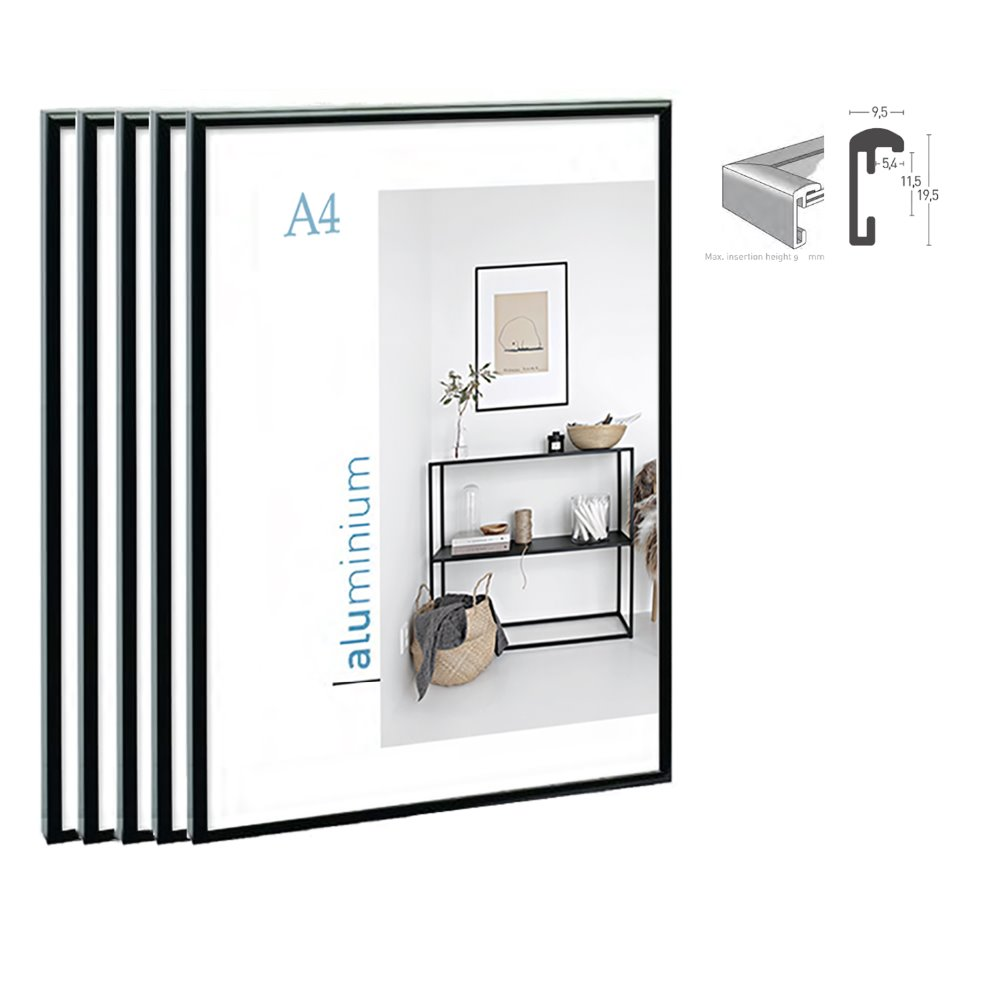 Klassische super schmale aluminium A4 plakatrahmen für wandbehang ...