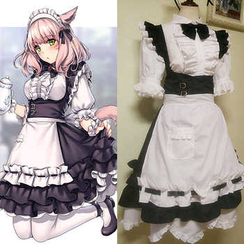 Game Final Fantasy XIV FF14 Miqo'te Cosplay Costume Halloween Christmas Carnival Sexy Dress Maid Servant Uniform Custom Made - DISCOUNT ITEM  18% OFF All Category