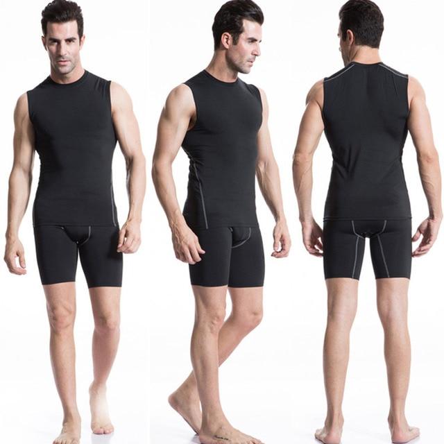 Men Male Slim Body Sport Training Basketball Vest New Elastic Fast Drying Outdoor Running Vest 3 Colors Optional free shipping