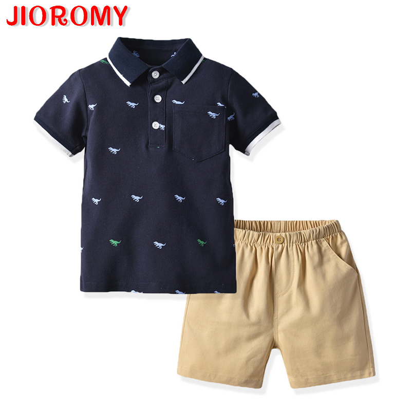 JIOROMY 2019 Boys Clothes Set Short Sleeve Cotton Top Shorts 2 Piece Set Casual Fashion Gentleman Childs clothesJIOROMY 2019 Boys Clothes Set Short Sleeve Cotton Top Shorts 2 Piece Set Casual Fashion Gentleman Childs clothes