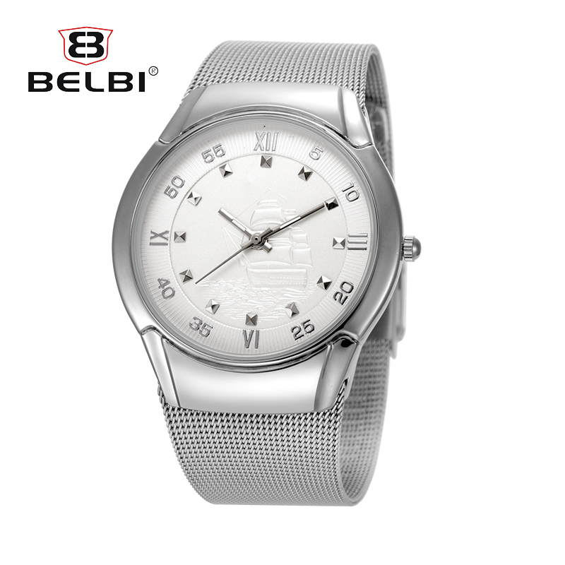 2016 Belbi Fashion Brand Luxury Stainless Steel Watches Men Golden Watch  Quartz Wristwatch Waterproof  Male Relogio Masculino weide popular brand new fashion digital led watch men waterproof sport watches man white dial stainless steel relogio masculino