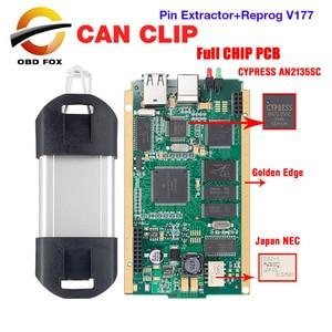 Image 1 - Herramienta de diagnóstico de coche Can Clip V183 Gold Chip completo CYPRESS AN2135SC AN2131QC a 1998 2019 para Renault Pin Extractor + remag V177