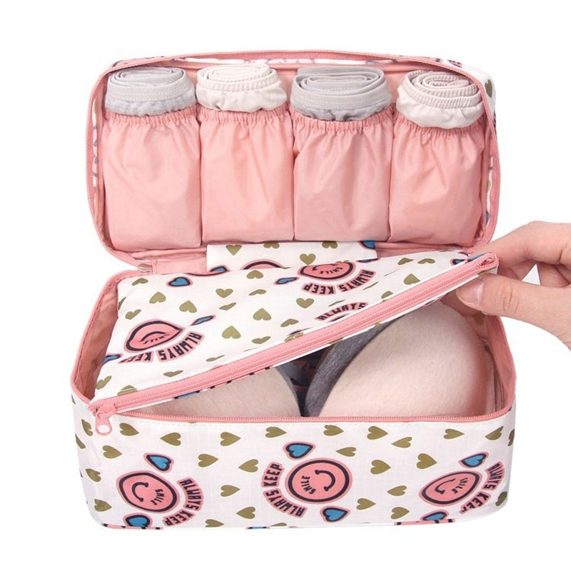 2019 New Travel Bra Underwear Organizer Bag Cosmetic Daily Packing Cubes Supplies Toiletries Storage Bra Bag Case 30