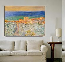 Burgo Marina at Bordighera by Monet Posters Print Canvas Painting Calligraphy Wall Pictures for Living Room Bedroom Home Decor блуза persona by marina rinaldi persona by marina rinaldi pe025ewdocu9