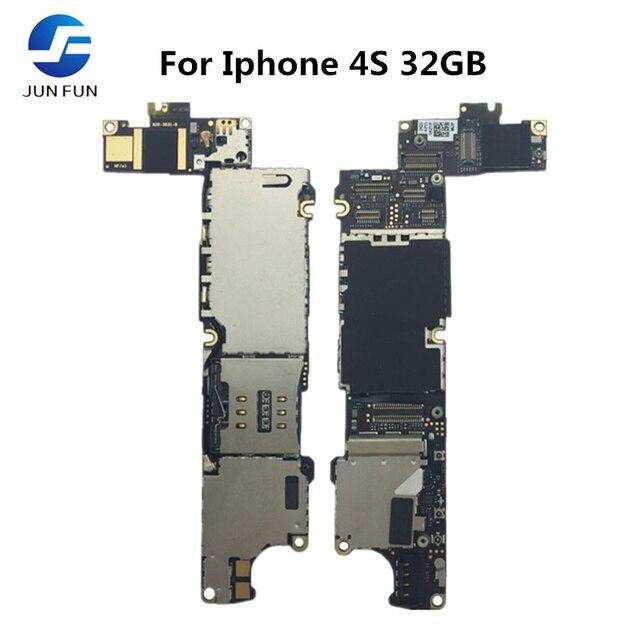 GIUGNO DIVERTIMENTO di Lavoro Completo Sbloccato Per Il Iphone 4 4S 32GB Scheda Madre Mainboard Logic Scheda Madre MB Piatto