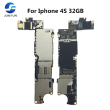 Jun diversão de trabalho completo desbloqueado para o iphone 4S 32gb placa mãe lógica placa mãe placa mb
