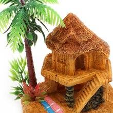 1PC Polyresin Aquariums Fish Tank Ornaments Simulation Coconut Tree Castle Aquarium Aquario Decoration