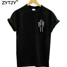 Cactus pocket Print Women tshirt Cotton Casual Funny t shirt