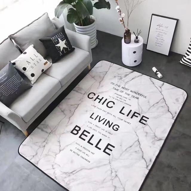 Weiß Marmor Farbe Teppich Für Schlafzimmer Dekoration Tür Matte Boden  Teppich Warm Bunte Wohnzimmer Teppich Yoga