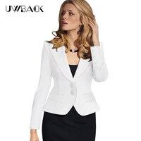 Uwback 2017 새로운 브랜드 재킷 feminino 플러스 사이즈 4xl 짧은 섹시 슬림 작업 재킷 여성의 블레이저 노치 재킷 mujer tb1085