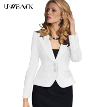 Uwback 2017 New Brand Blazer Feminino Plus Size 4XL Short Sexy Slim Work Jacket Women's Blazers Notched Blazer Mujer TB1085