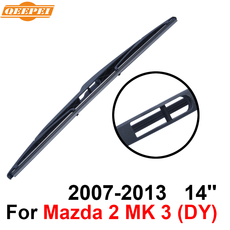 Persevering Qeepei Rear Windscreen Wiper No Arm For Mazda 2 Mk 3 2007-2013 14 3/5 Door Hatchback High Quality Iso9001 Natural Rubber dy