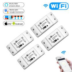 DIY WiFi умный выключатель света Универсальный таймер выключателя беспроводной пульт дистанционного управления работает с Alexa Google Home Smart Home 4