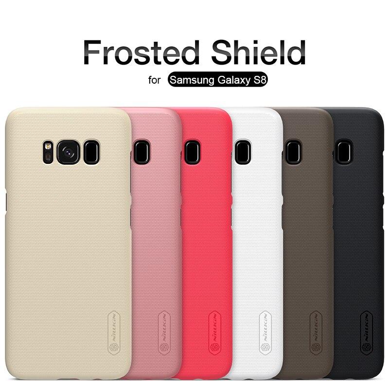 Para Samsung Galaxy S8 Nillkin Frosted Escudo Caso de la Cubierta Trasera Dura d