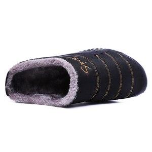 Image 3 - 2020รองเท้าผู้ชายฤดูหนาวรองเท้าแตะผ้าใบกันน้ำรองเท้าFur Plusขนาด39 48นอกรองเท้าแตะยางnon Slip