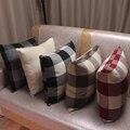 CURCYA простая Классическая клетчатая наволочка для дивана прочная жесткая льняная простая декоративная наволочка для стульев домашний Декор подарок - фото