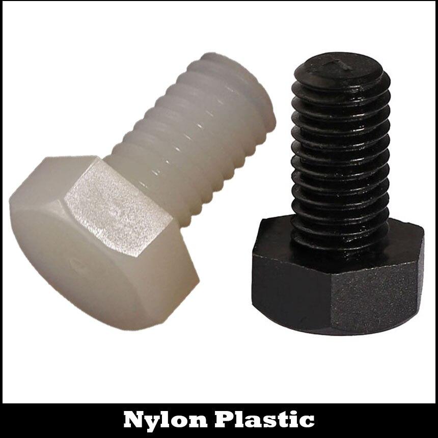 M6 M6*15 M6x15 M6*20 M6x20 M6*30 M6x30 White Black Nylon Plastic Insulation Bolt Metric Thread External Hex Hexagon Screw