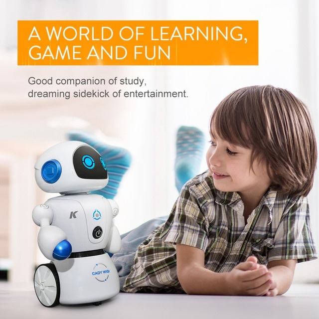 Intelligent Cady Wigi JJRC R6 Remote Control Programmable Dancing USB RC Robot Early Educational Toy for Kids