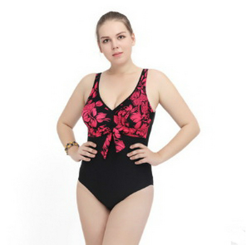 Swimwear For Women 2018 Plus Size Stitching Sleeveless Shoulder Pads Removable Hollow Piece Bikini Swimsuit