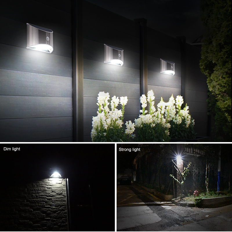 Waterproof Solar Outdoor Light with 4 LED and Motion Sensor Powered by Sunlight for Garden and Garage 5