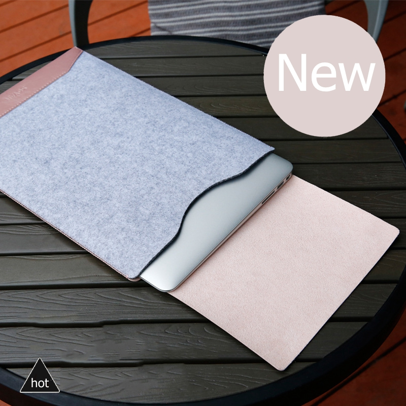 New Felt Leather Mosaic Liner Sleeve Bag For 2016 Macbook Pro 13 Air 13 Retina 13 15 inch Laptop Holster Case For Mac 13.3 15.6